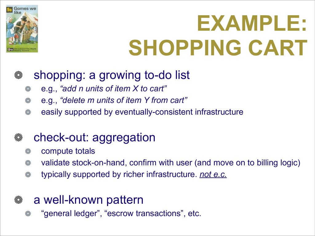 EXAMPLE: SHOPPING CART shopping: a growing to-d...