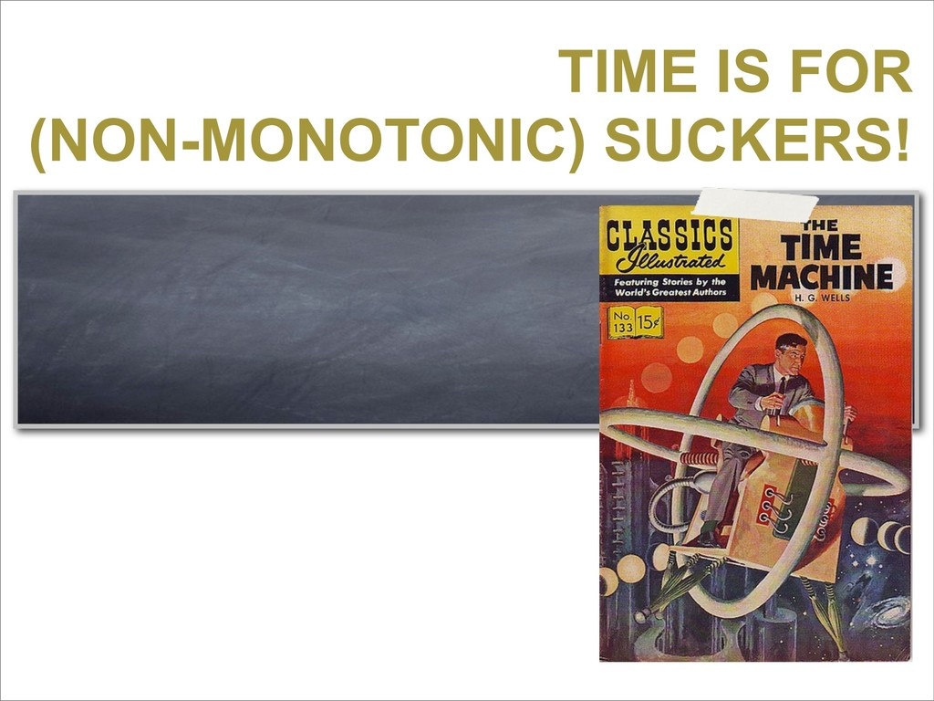 TIME IS FOR (NON-MONOTONIC) SUCKERS!