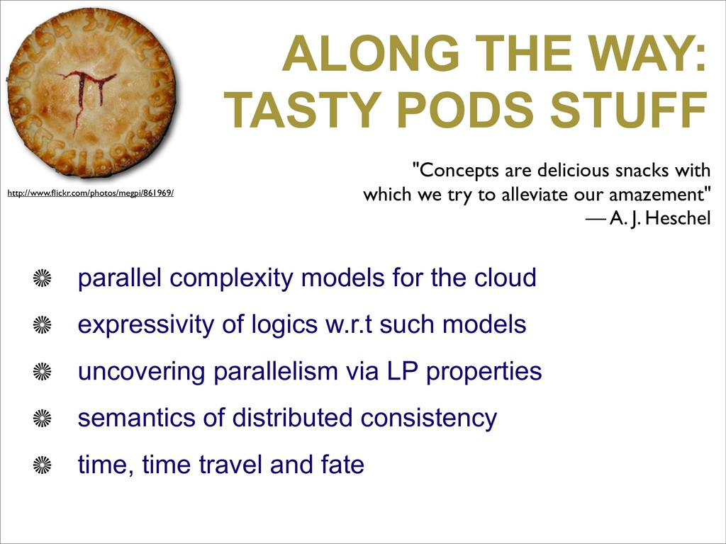 ALONG THE WAY: TASTY PODS STUFF parallel comple...