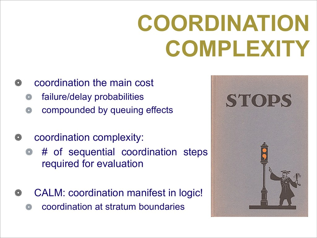 COORDINATION COMPLEXITY coordination the main c...