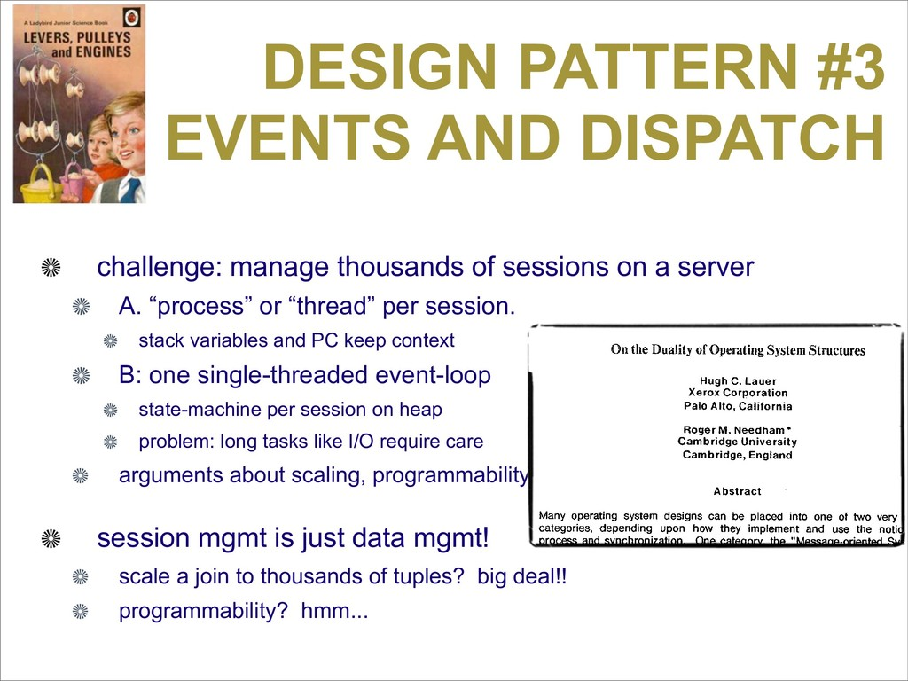 DESIGN PATTERN #3 EVENTS AND DISPATCH challenge...