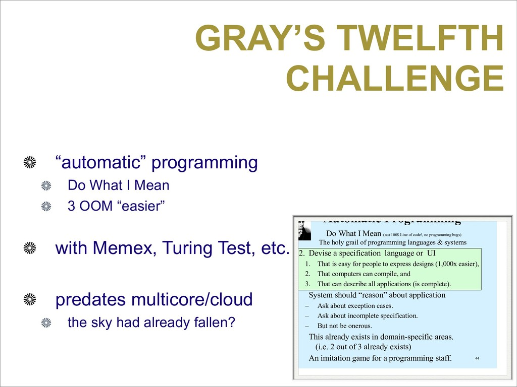 "GRAY'S TWELFTH CHALLENGE ""automatic"" programmin..."