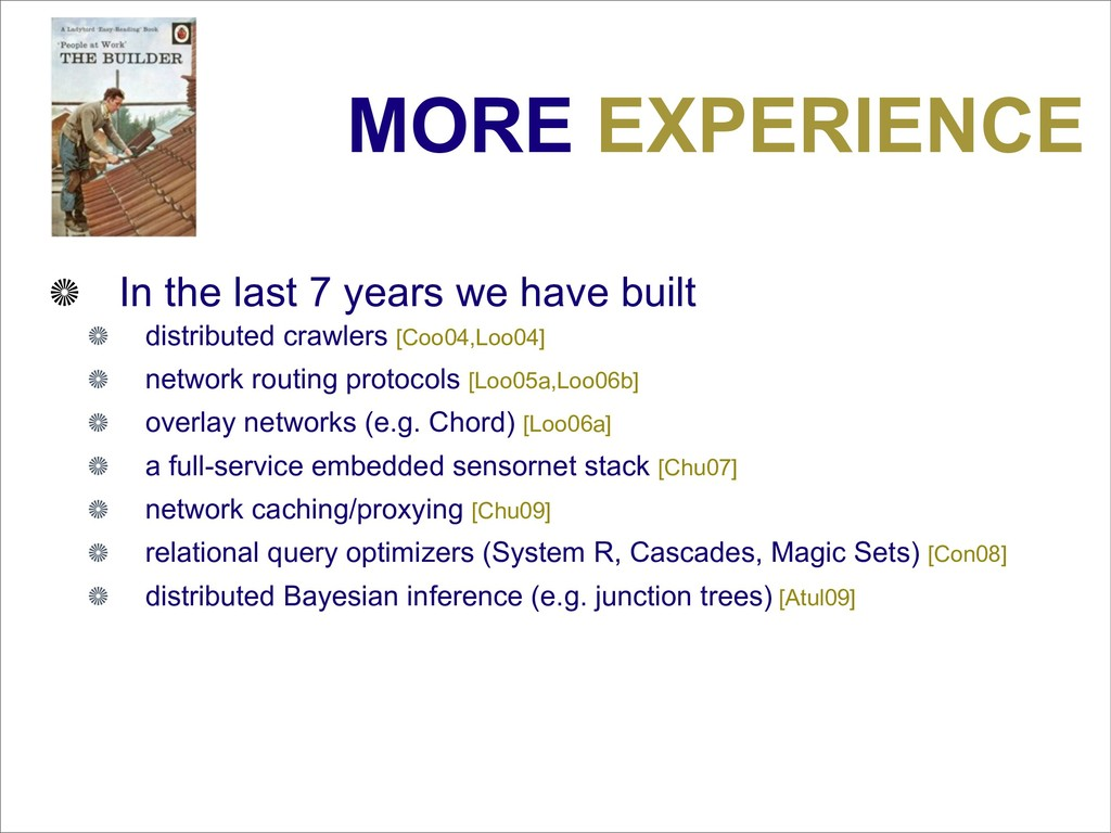 MORE EXPERIENCE In the last 7 years we have bui...