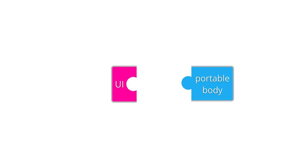 portable body UI
