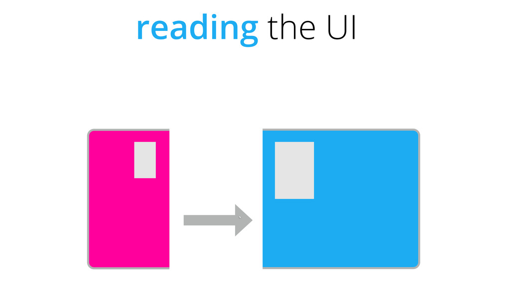 ` reading the UI