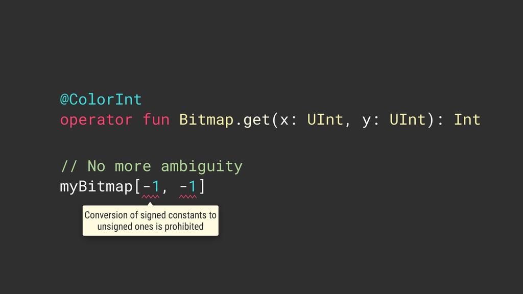 @ColorInt operator fun Bitmap.get(x: UInt, y: U...