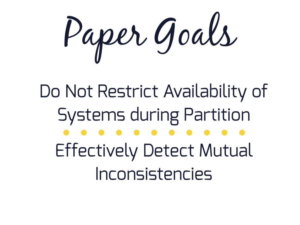 Paper Goals Do Not Restrict Availability of Sys...