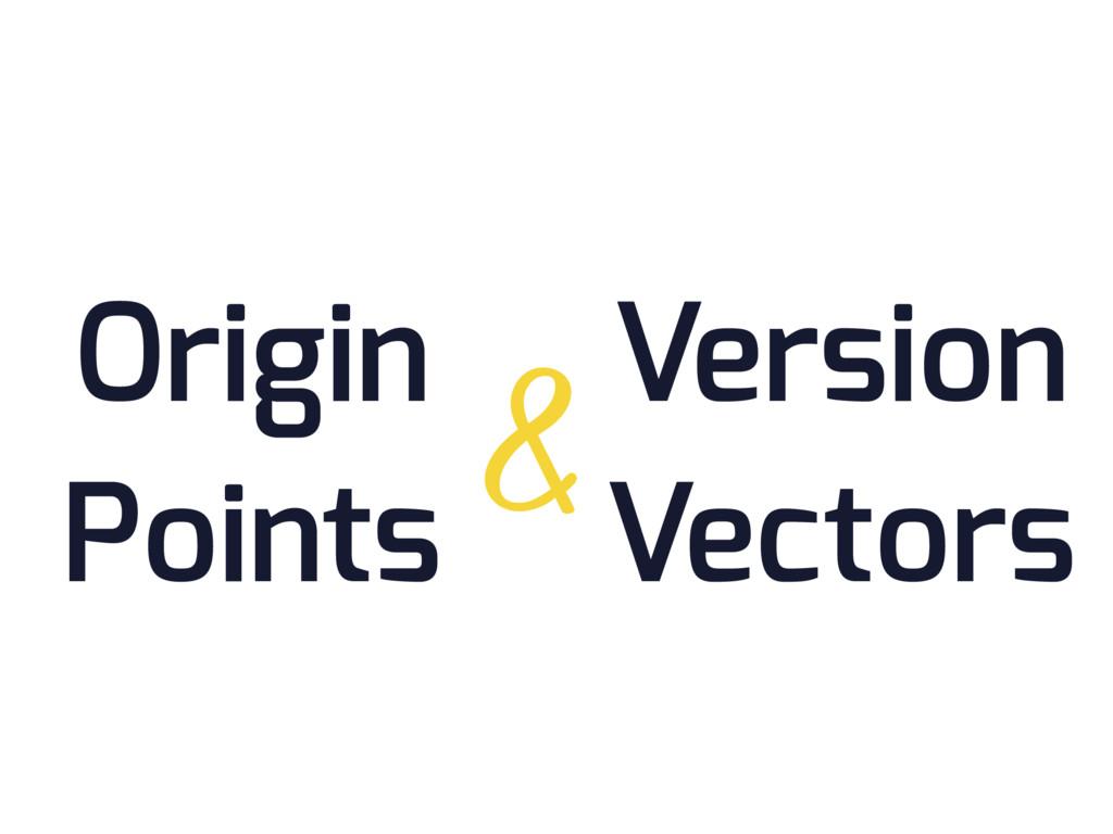 Origin Points Version Vectors &