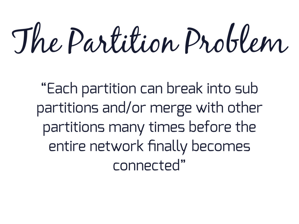 """""""Each partition can break into sub partitions a..."""