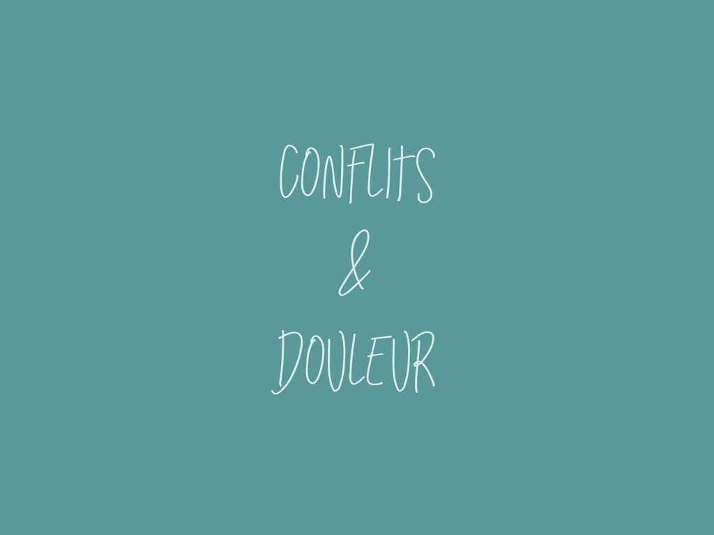 Conflits & douleur