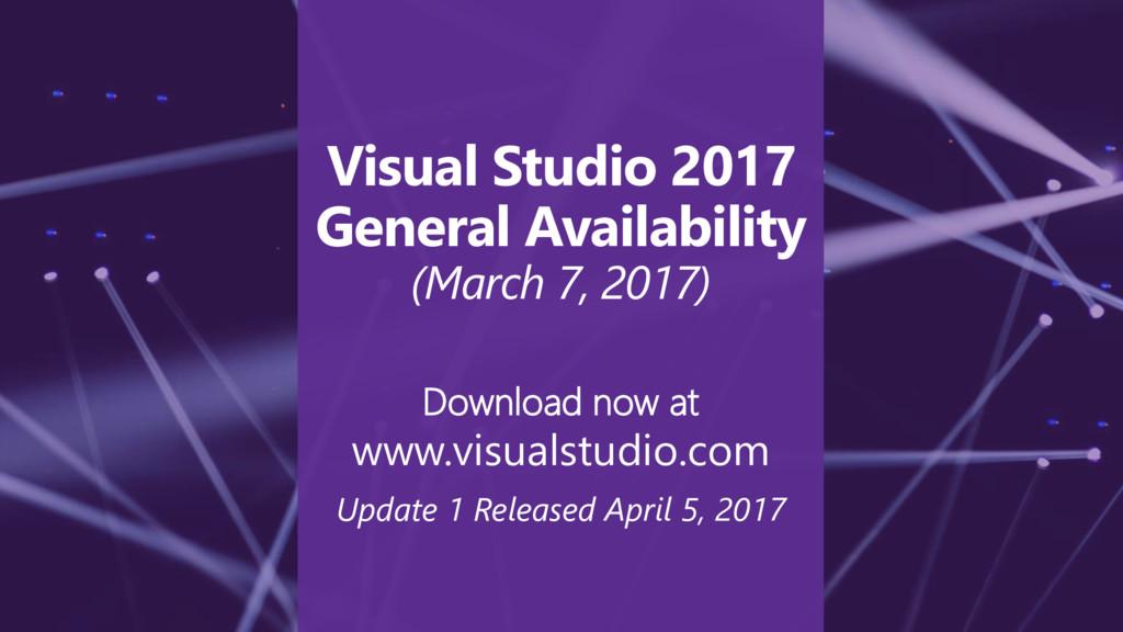 Download now at www.visualstudio.com Update 1 R...