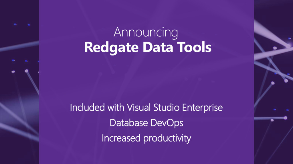 Included with Visual Studio Enterprise Database...