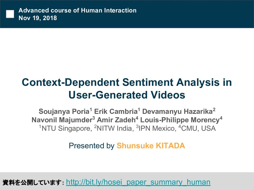 Context-Dependent Sentiment Analysis in User-Ge...