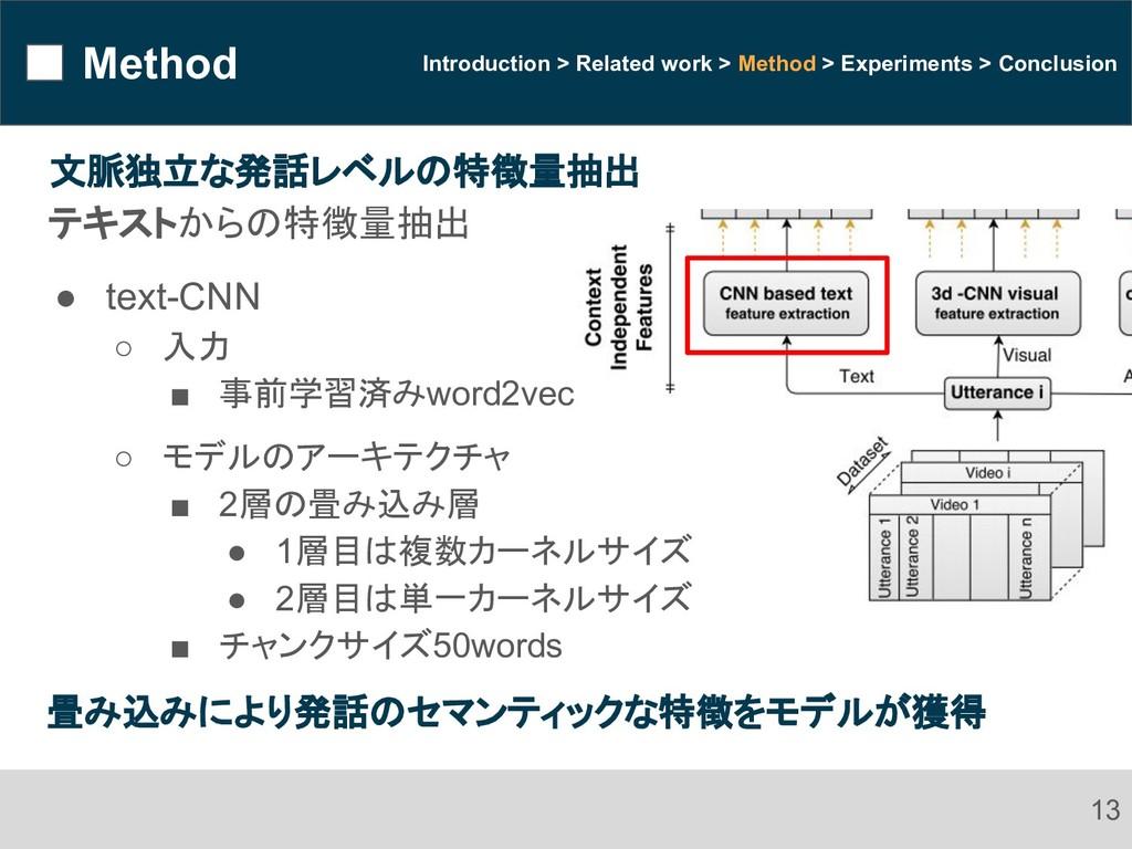 Method 13 Introduction > Related work > Method ...