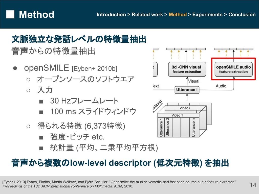 Method 14 Introduction > Related work > Method ...