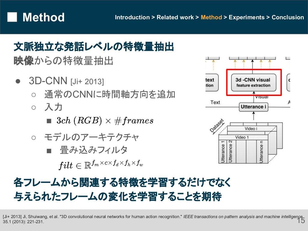 Method 15 Introduction > Related work > Method ...