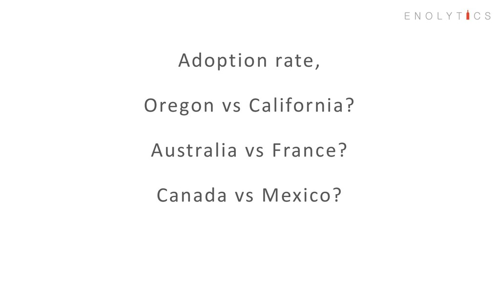 Adoption rate, Oregon vs California? Australia ...