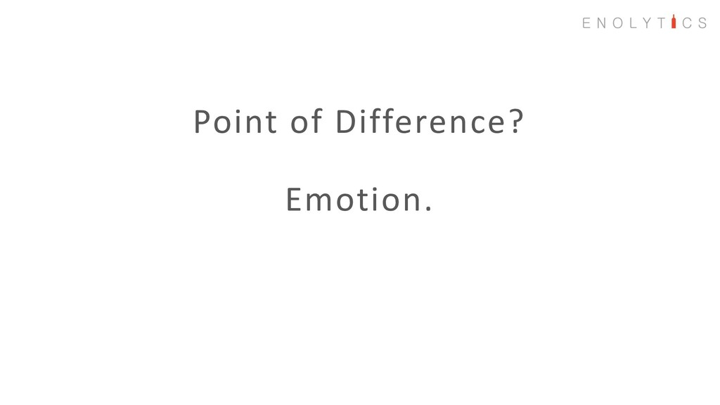 Point of Difference? Emotion.
