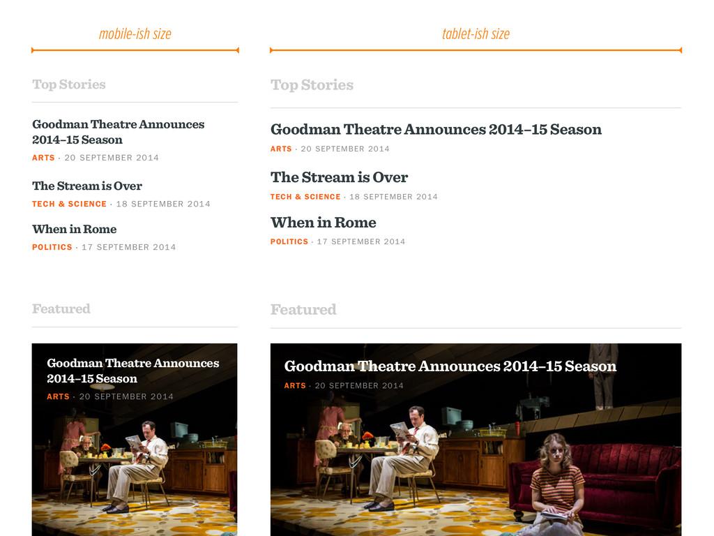 Top Stories Goodman Theatre Announces 2014–15 S...