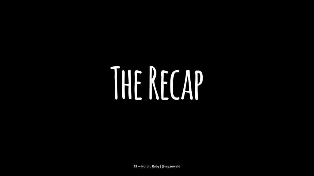 The Recap 29 — Nordic Ruby | @raganwald