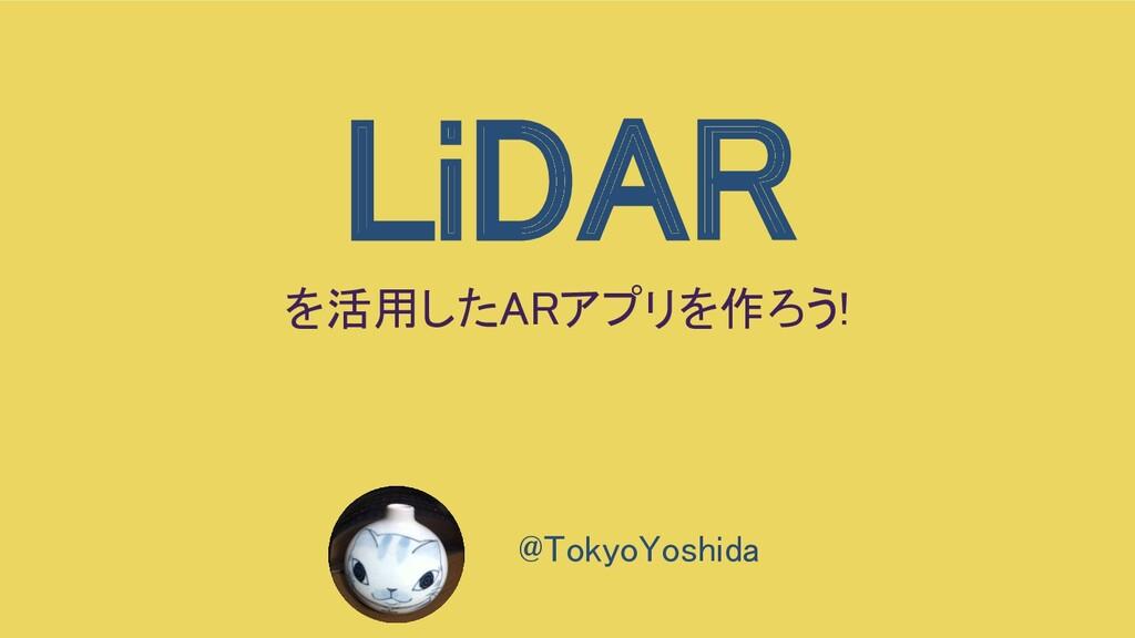 LiDAR を活用したARアプリを作ろう!  @TokyoYoshida