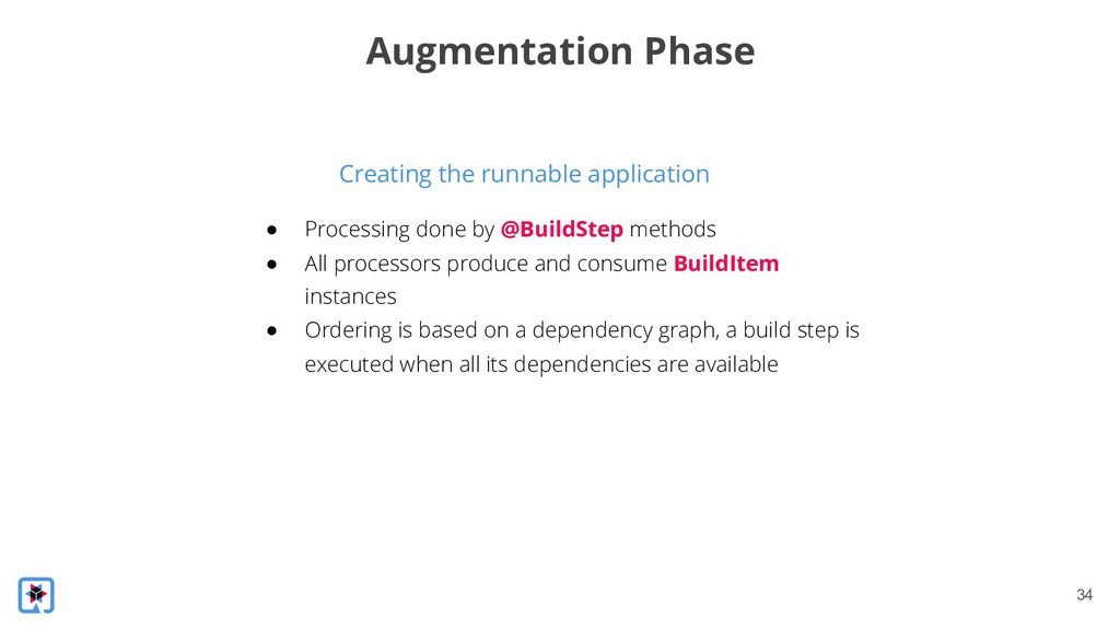 !34 Creating the runnable application Augmentat...