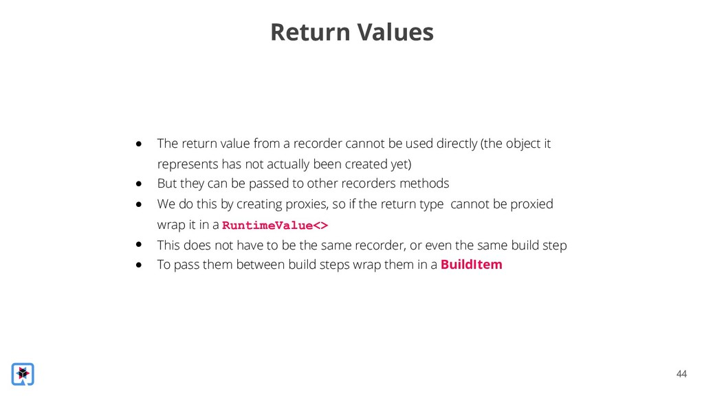 !44 Return Values ● The return value from a rec...
