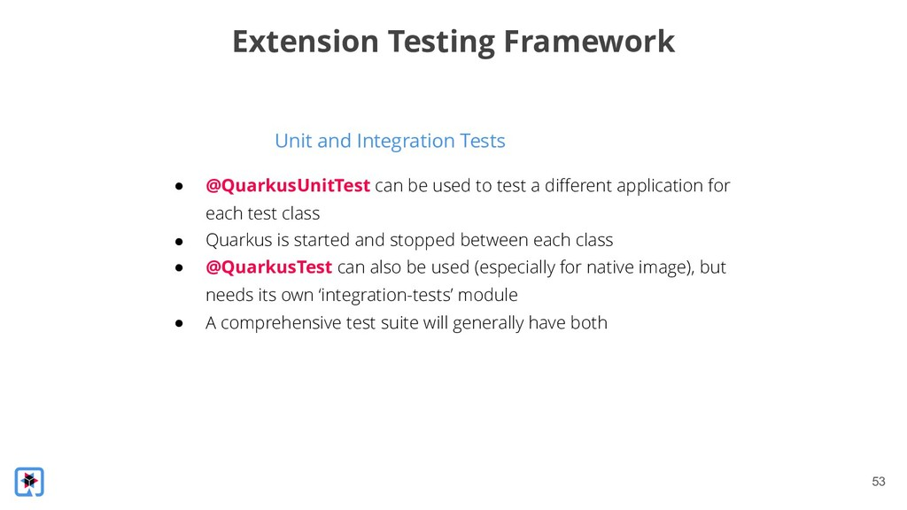 !53 Unit and Integration Tests Extension Testin...