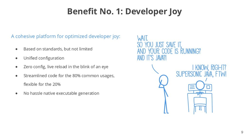 !9 A cohesive platform for optimized developer ...