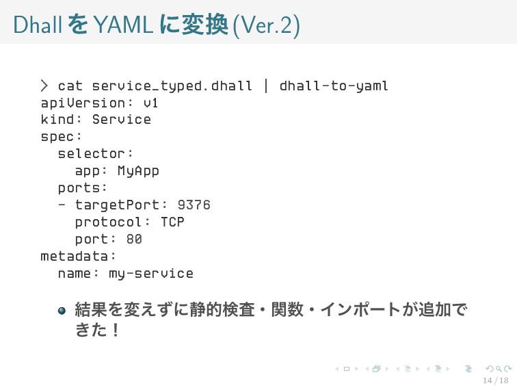 DhallをYAMLに変換(Ver.2) > cat service_typed.dhall ...
