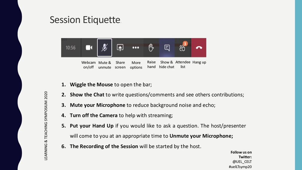 1. Wiggle the Mouse to open the bar; 2. Show th...