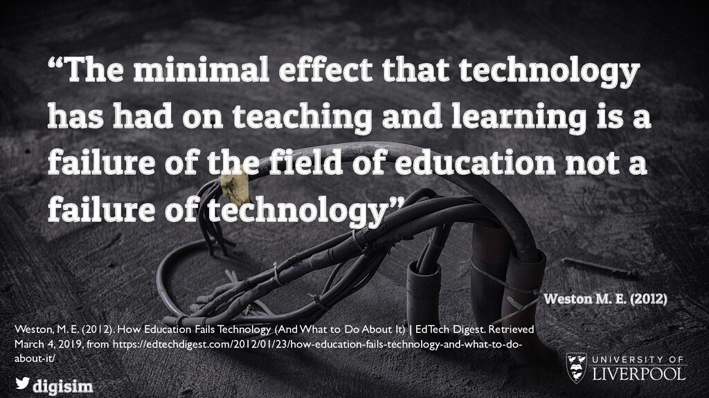 """""""The minimal effect that technology has had on ..."""