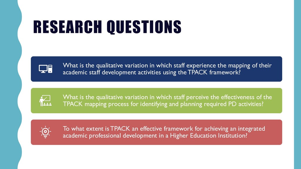 RESEARCH QUESTIONS What is the qualitative vari...