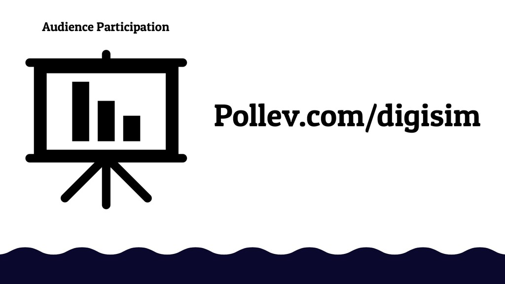 Pollev.com/digisim Audience Participation