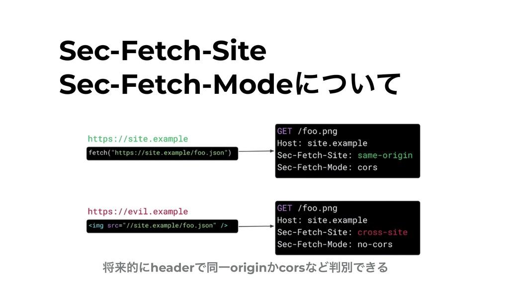 Sec-Fetch-Site Sec-Fetch-Modeʹ͍ͭͯ কདྷతʹheaderͰಉ...