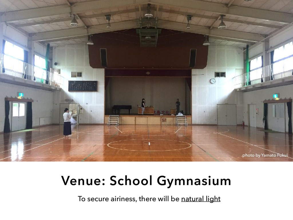 Venue: School Gymnasium To secure airiness, the...