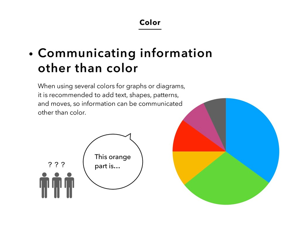 Color Communicating information  other than co...