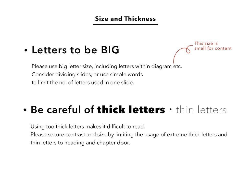 Size and Thickness Letters to be BIG Be careful...