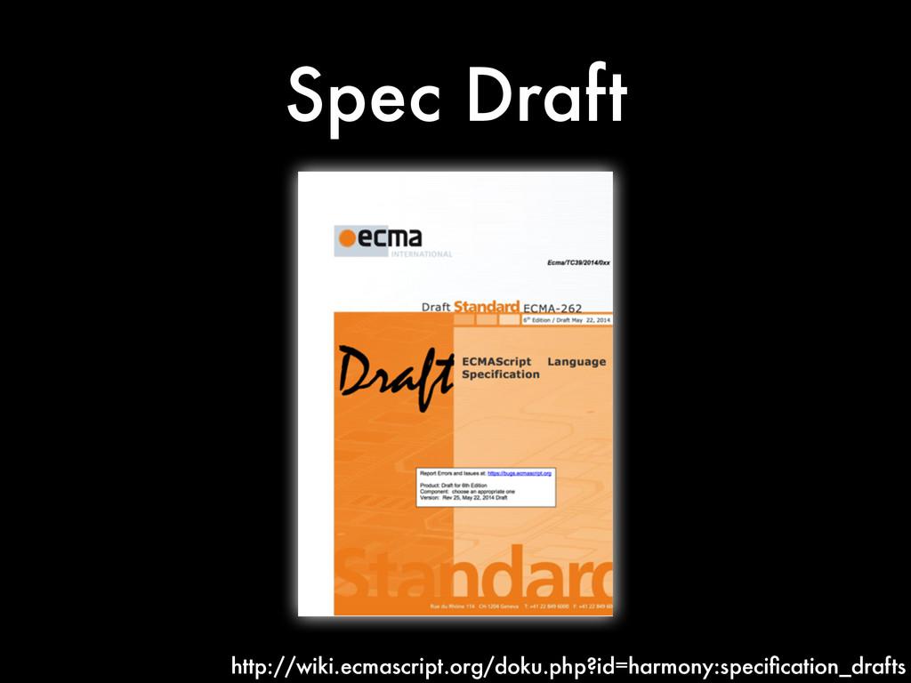 Spec Draft http://wiki.ecmascript.org/doku.php?...