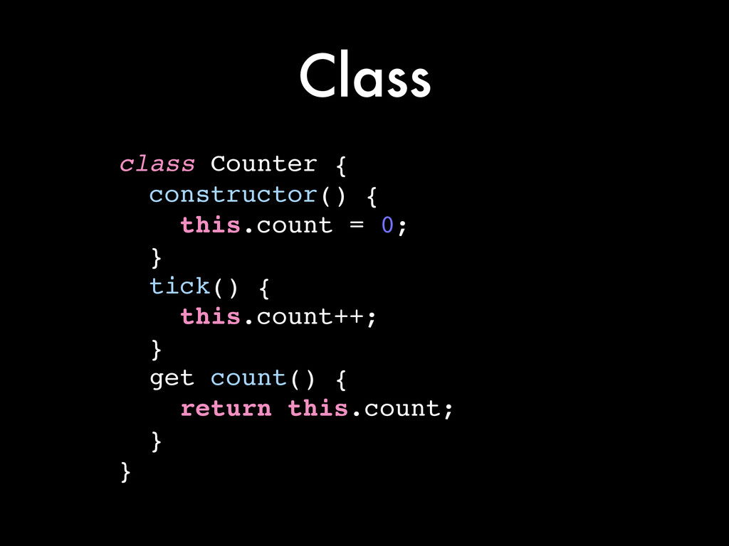 Class class Counter {! constructor() {! this.co...