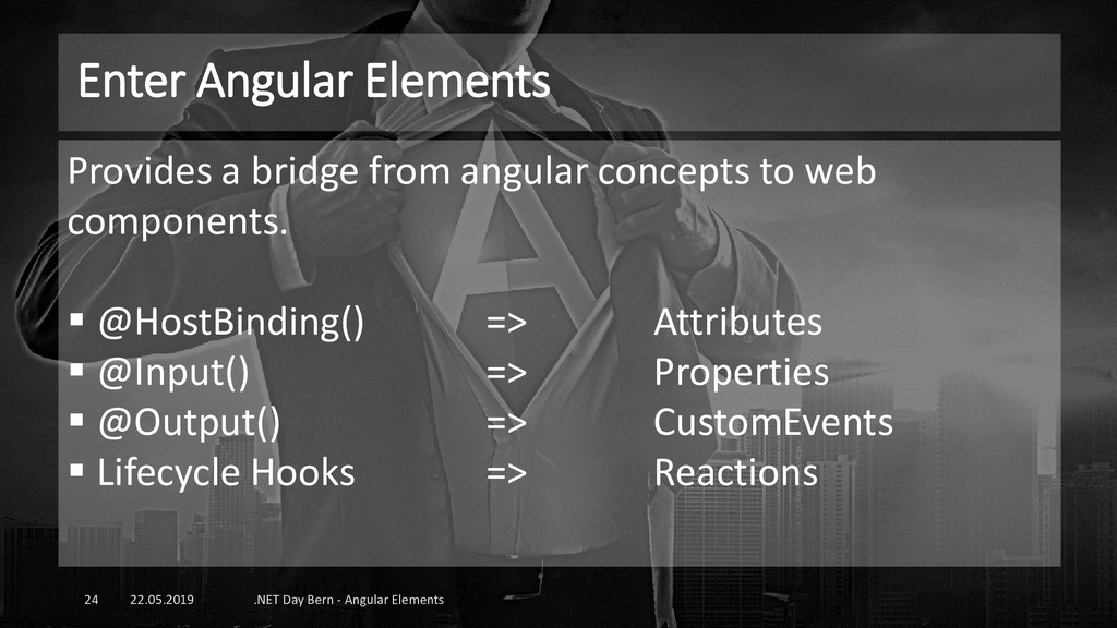 Enter Angular Elements 22.05.2019 .NET Day Bern...