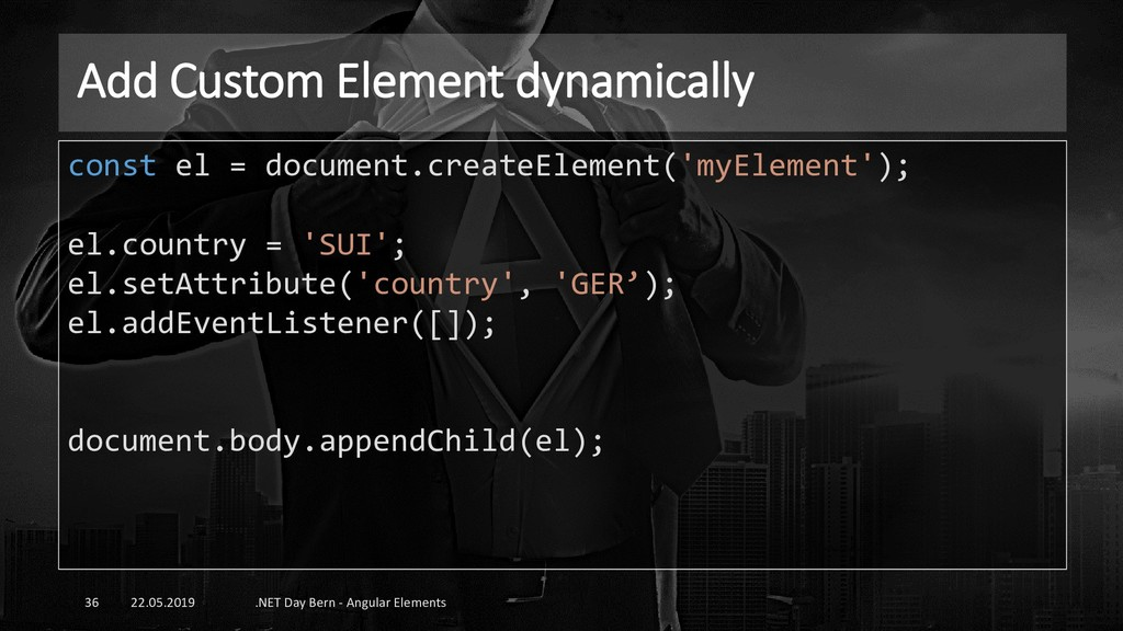 Add Custom Element dynamically 22.05.2019 .NET ...
