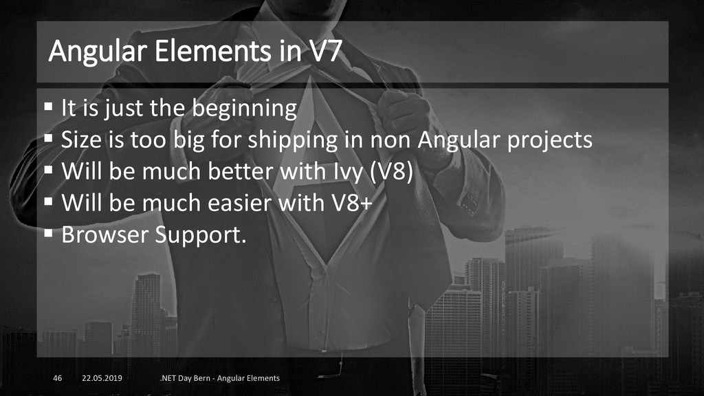 Angular Elements in V7 22.05.2019 .NET Day Bern...
