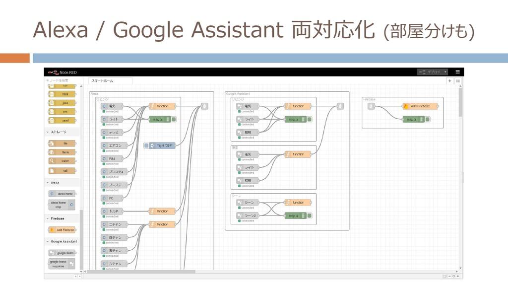 Alexa / Google Assistant 両対応化 (部屋分けも)