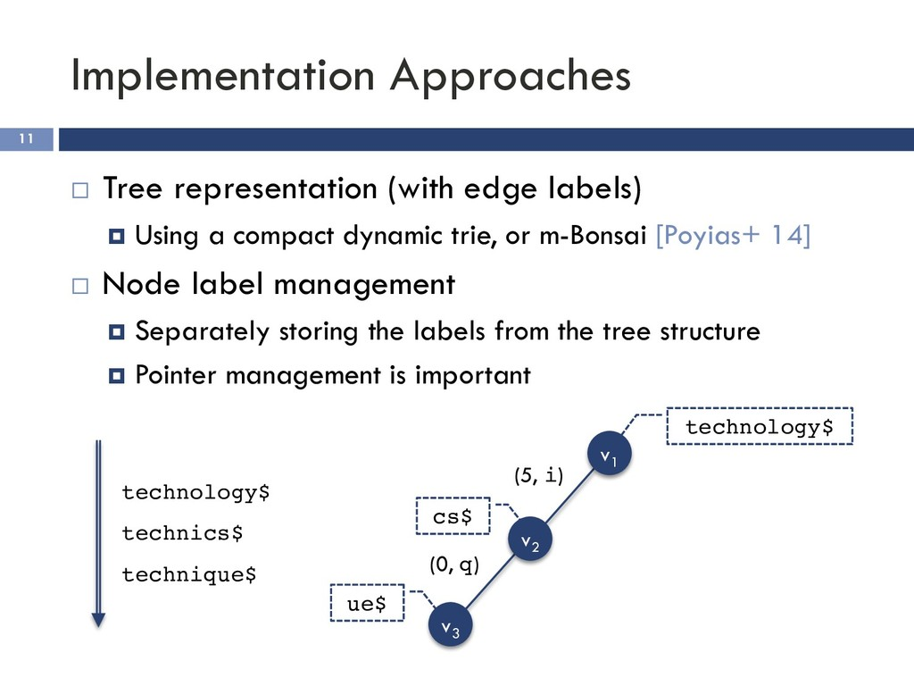 Implementation Approaches 11 ¨ Tree representat...