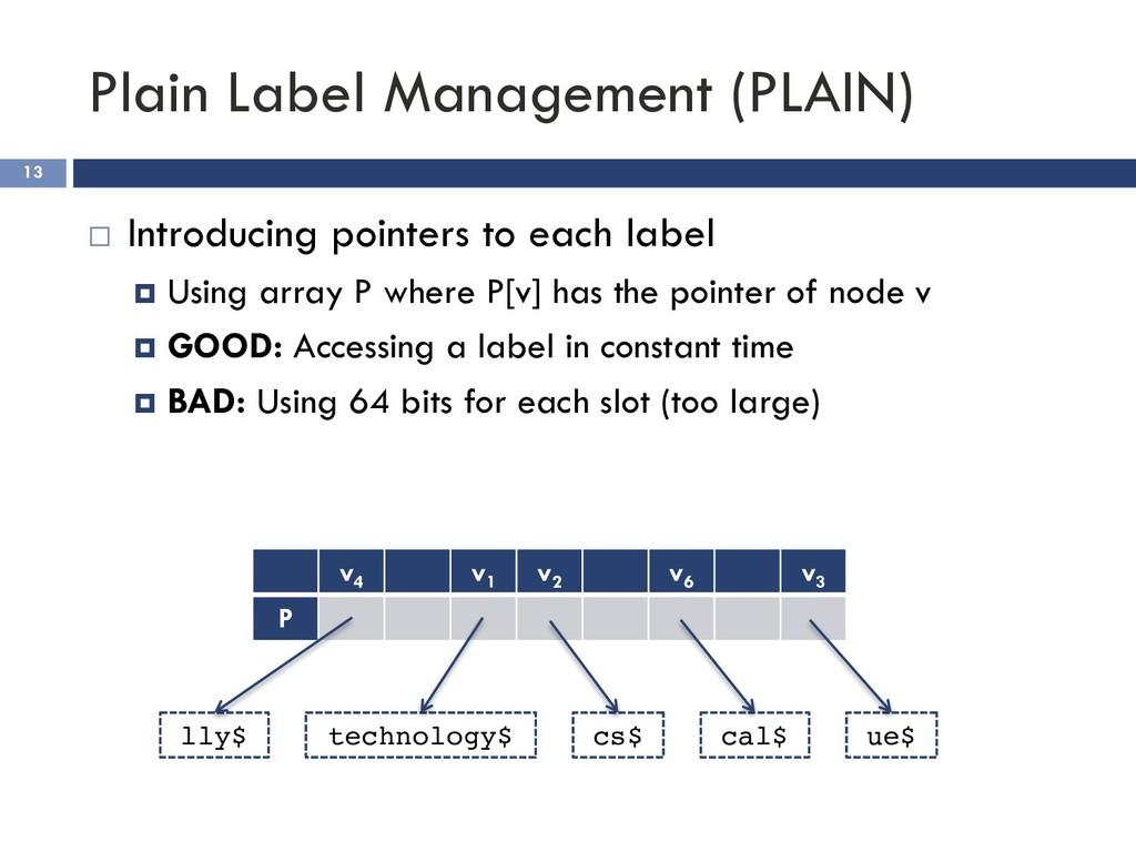 Plain Label Management (PLAIN) 13 ¨ Introducing...
