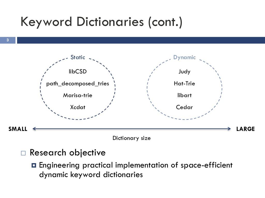 Keyword Dictionaries (cont.) 3 ¨ Research objec...