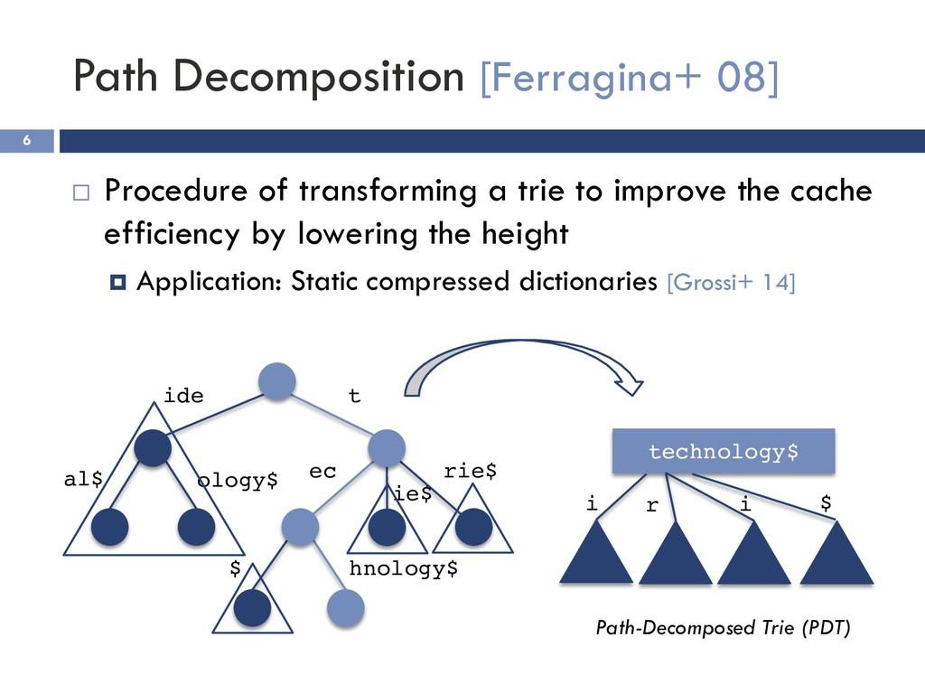 Path Decomposition [Ferragina+ 08] 6 ¨ Procedur...