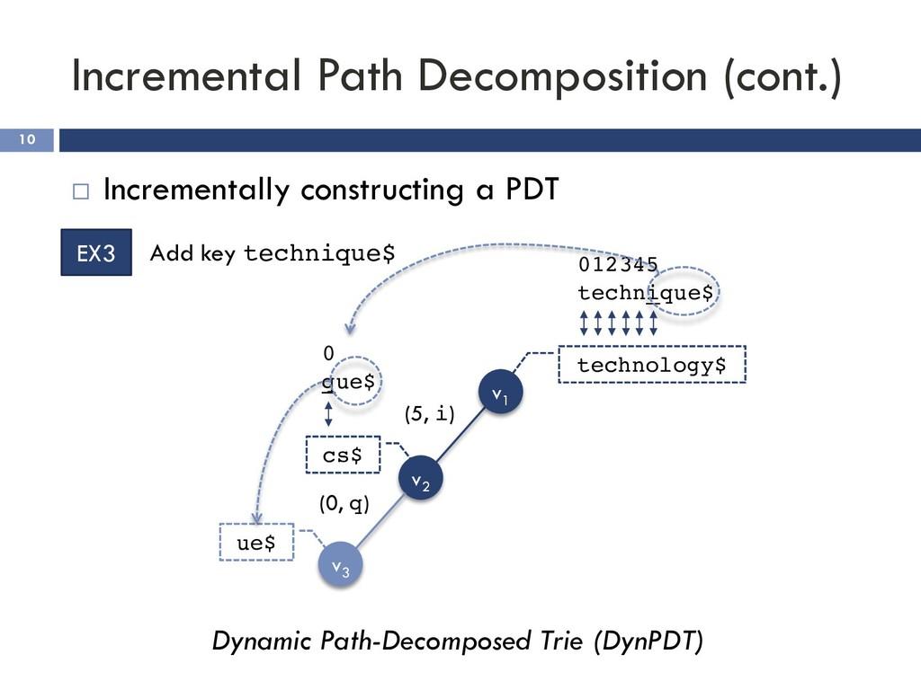 Incremental Path Decomposition (cont.) 10 ¨ Inc...