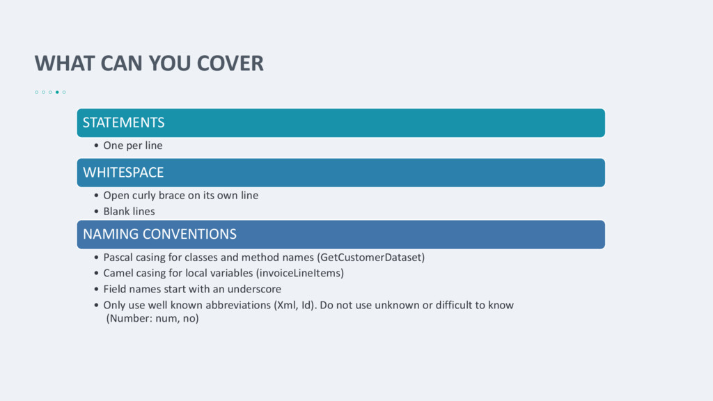 WHAT CAN YOU COVER STATEMENTS • One per line WH...